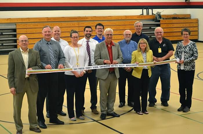Ribbon cutting ceremony at East Porter County School Corporation