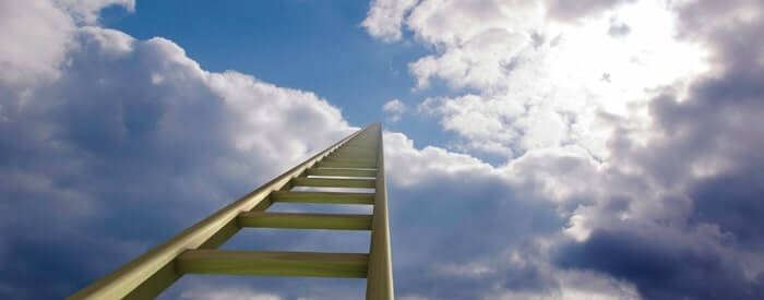 Ladder reaching the sky