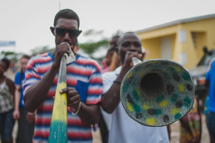Haitians play music to celebrate Food for the Poor