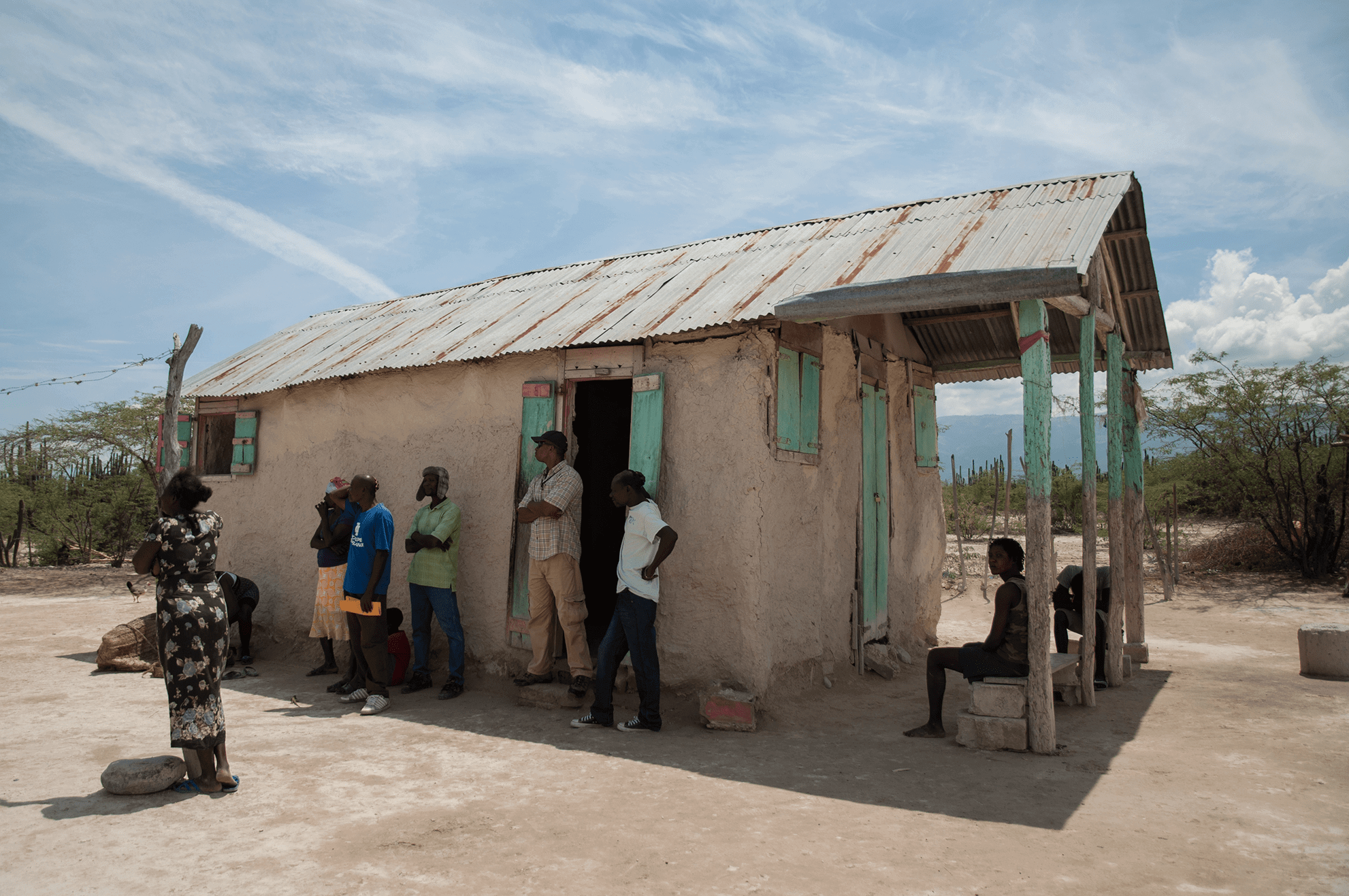 Villagers in need in Haiti