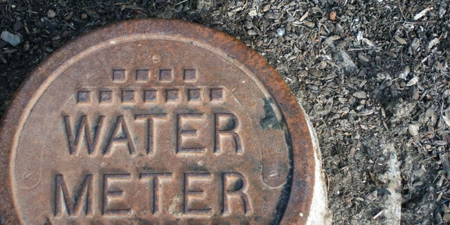 Water meter ground covering