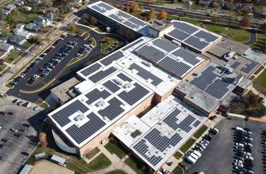 glenbard-solar-array-aerial